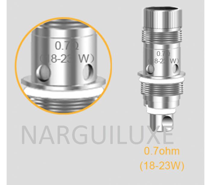aspire-resistances-bvc-nautilus-07-ohms-pack-de-5-resistances